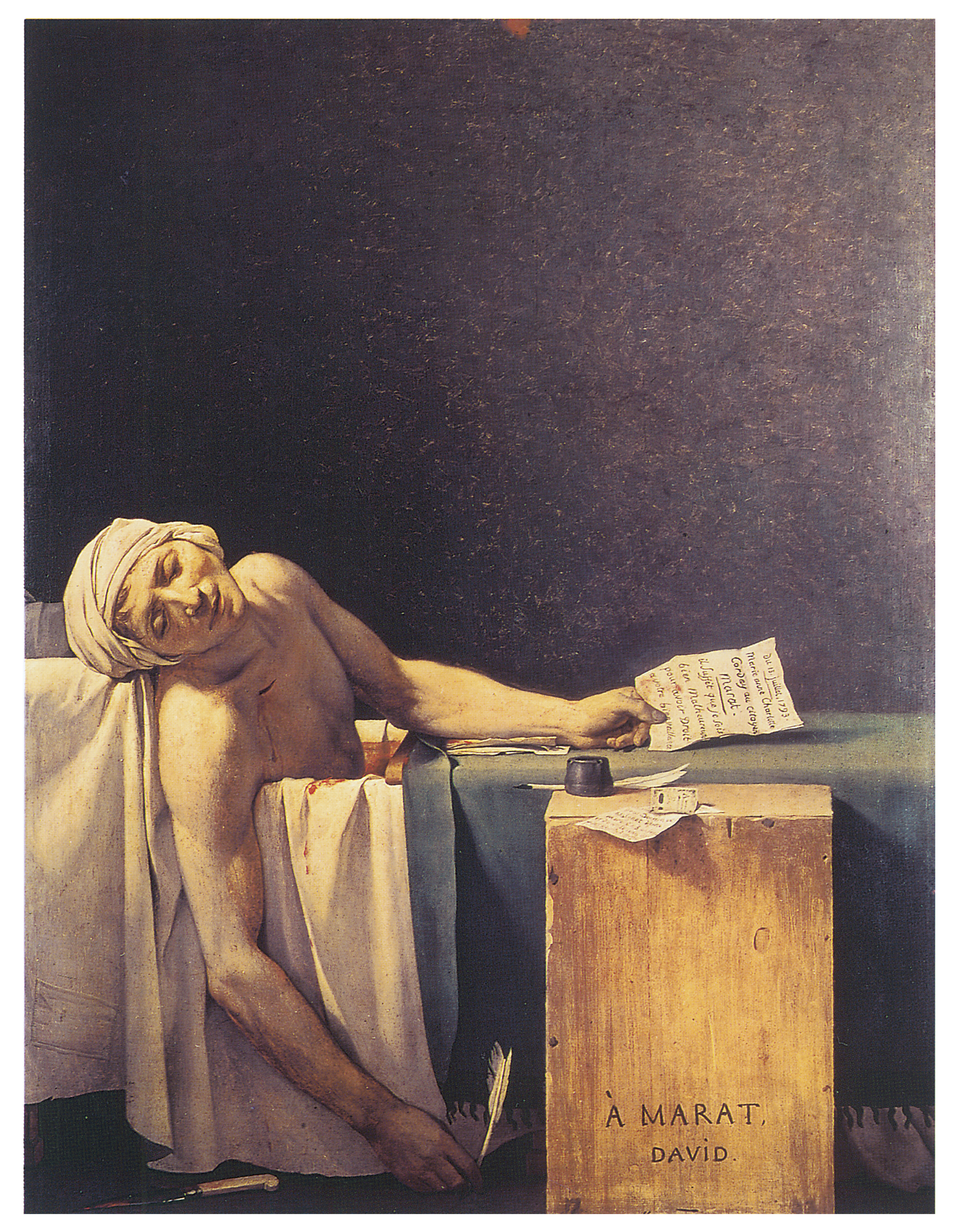 an interpretation of the death of marat a painting by jacques louis david Watch video clips and experience commissioned artwork to discover the power of art jacques-louis david was aged propaganda with the death of marat.
