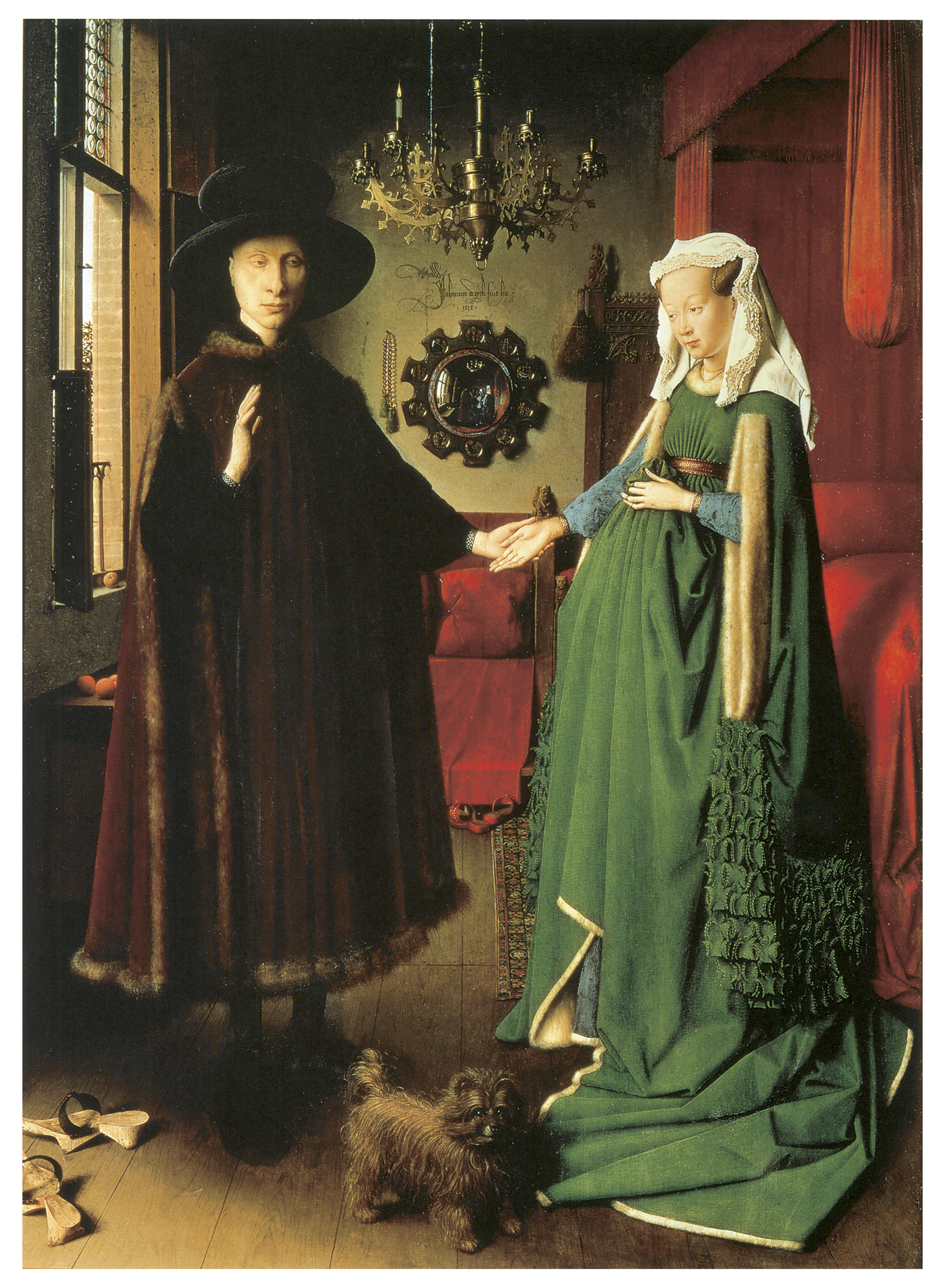 Van Arnolfini Giovanni Jan Wife S And Double His Portrait Eyck
