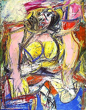 Willem de Kooning  Woman IV  1952Willem De Kooning Abstract Expressionist Paintings